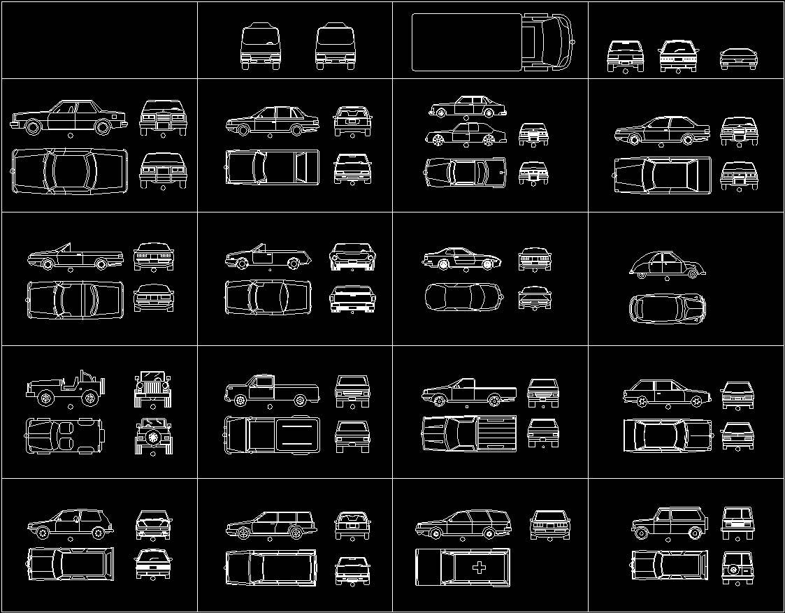 Blocks car dwg plan for autocad designs cad for Cad car plan