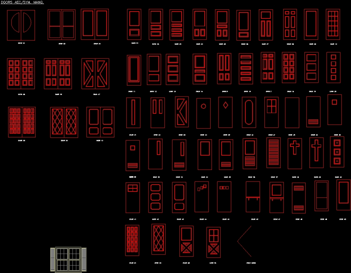 Aluminum door dwg cad garage doors gallery doors design for Door design autocad
