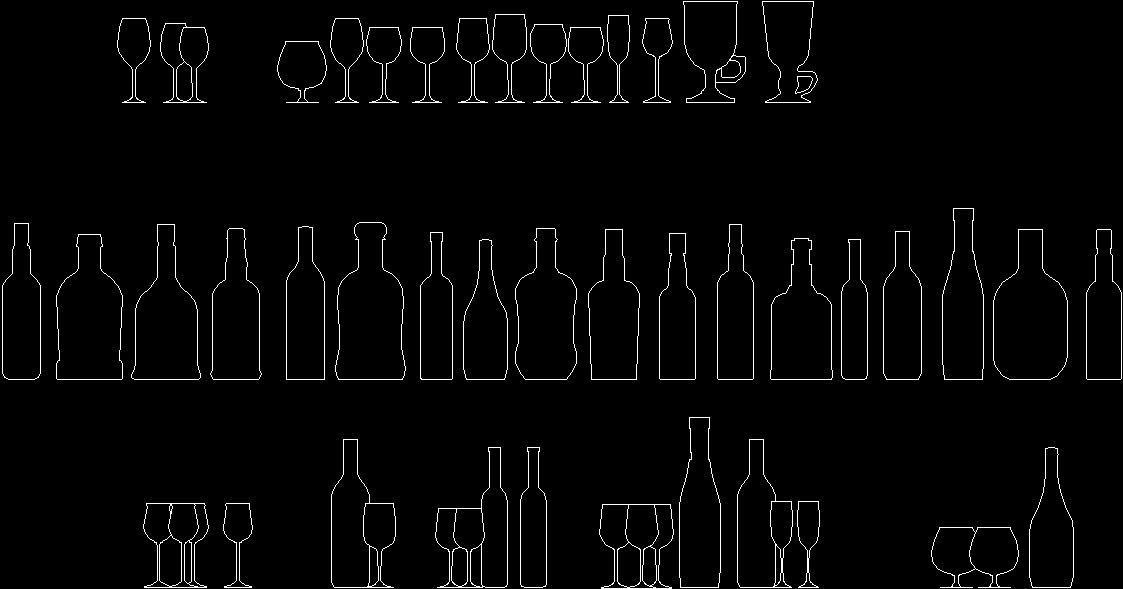 Bottles Dwg Block For Autocad Designs Cad