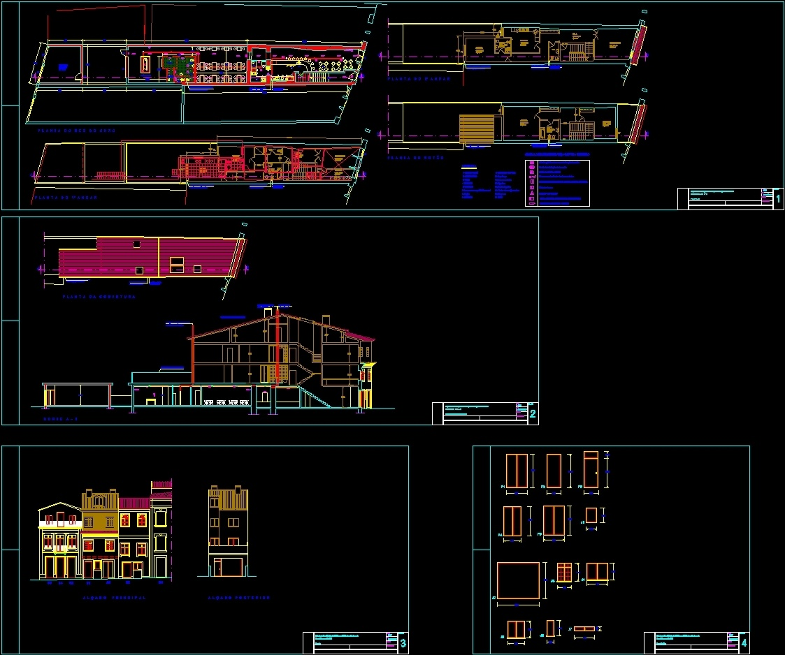 Building Remodeling Project For Room And Restaurant Dwg Full Project