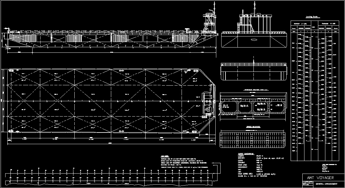 Bulk Carrier Tanker Barge Platform Dwg Plan For Autocad