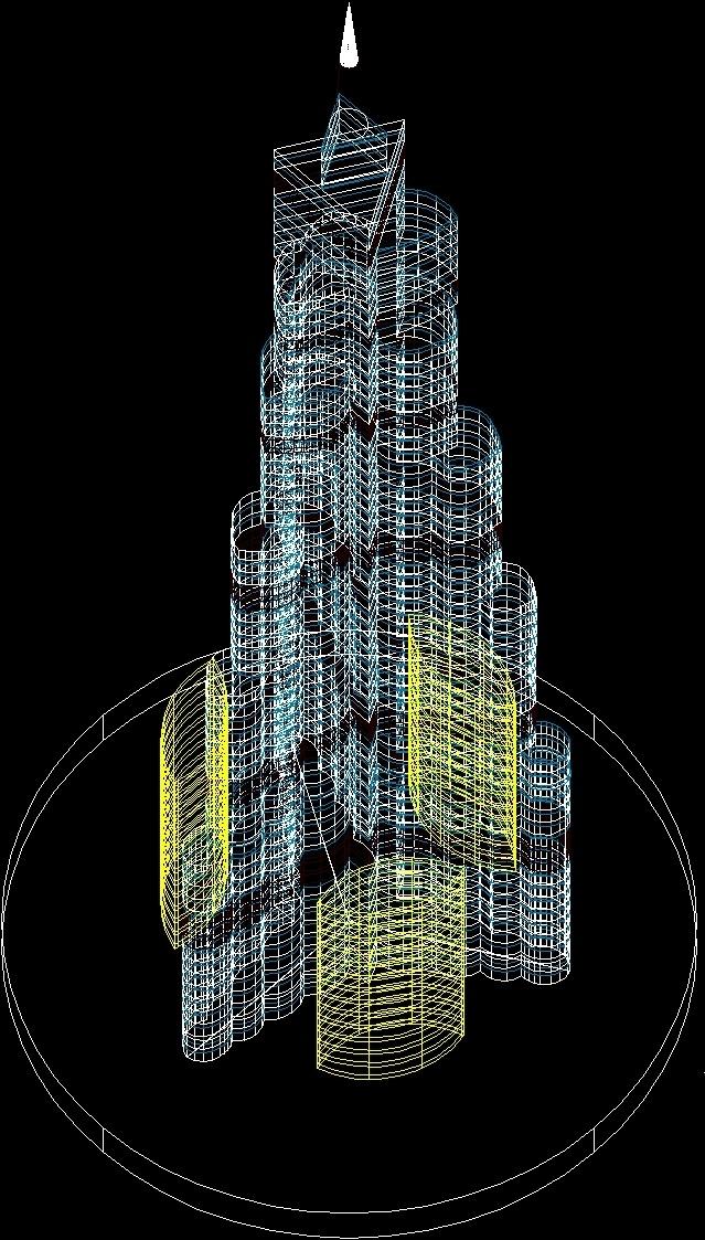 Burj Khalifa Dubai 3d Dwg Model For Autocad Designs Cad