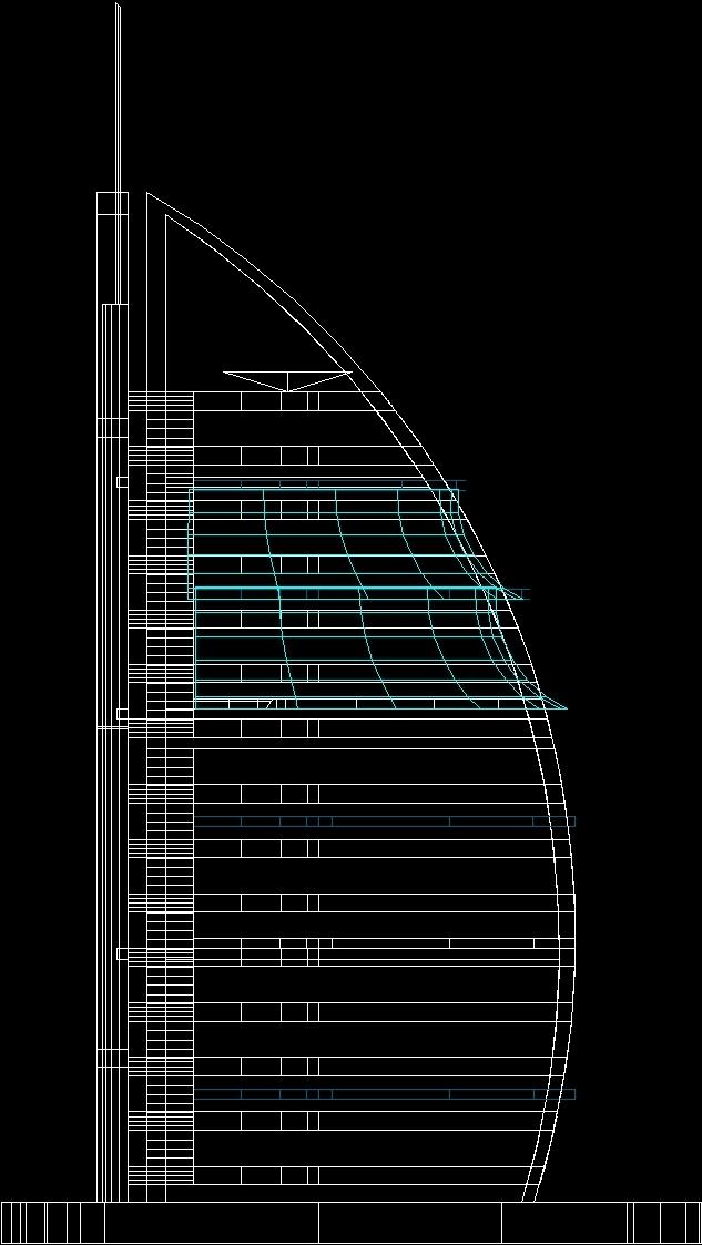 Autocad 3d House Design Software: Burj Al Arab Cad 3D DWG Model For AutoCAD • Designs CAD