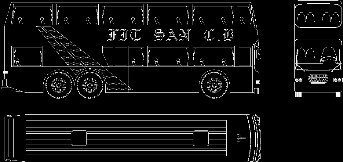 bus dwg block for autocad designs cad