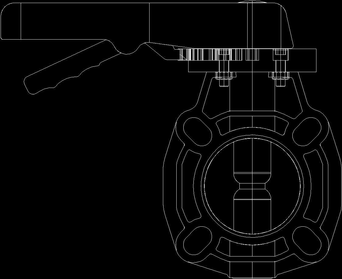 Butterfly Valve DWG Block for AutoCAD – Designs CAD