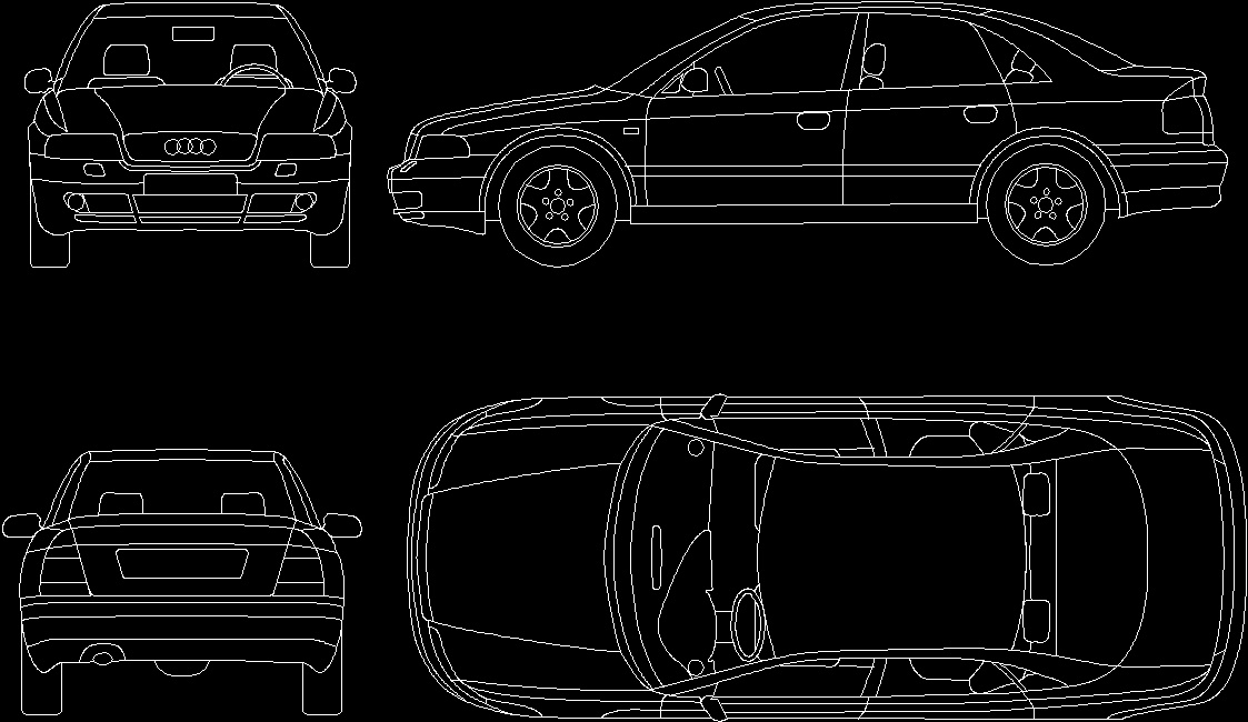 Car dwg plan for autocad designs cad for Cad car plan