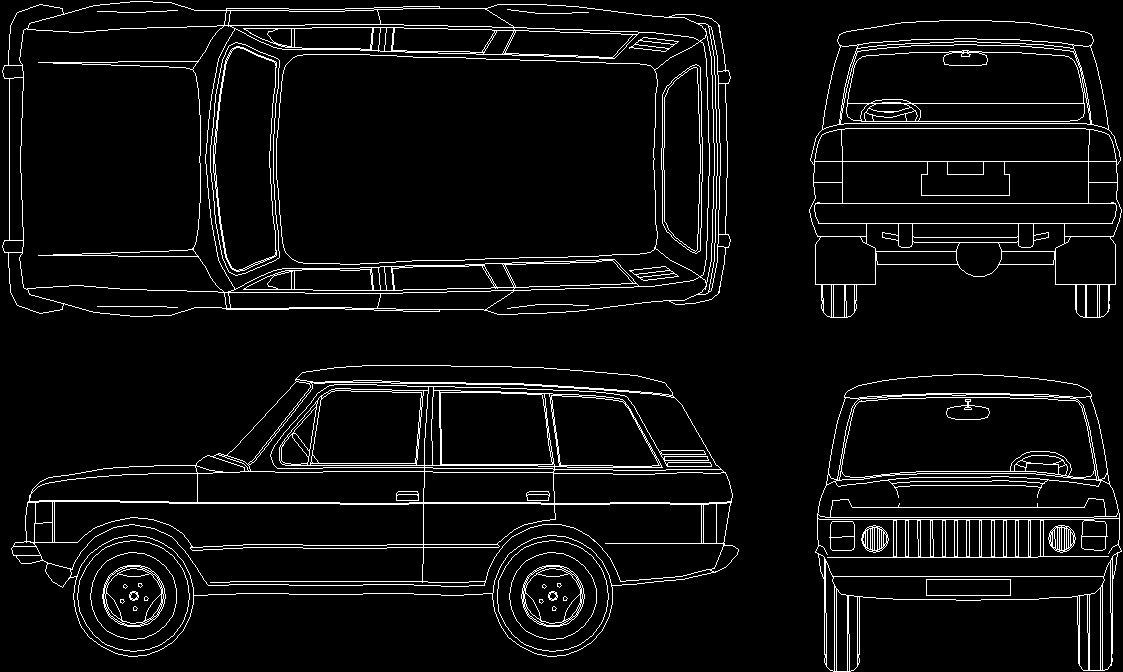 Car Range Rover Dwg Block For Autocad Designs Cad