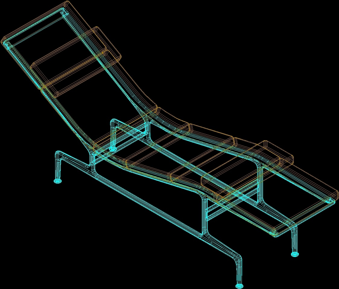 Chaise Longue Eames 3D DWG Model for AutoCAD • Designs CAD on chaise furniture, chaise recliner chair, chaise sofa sleeper,