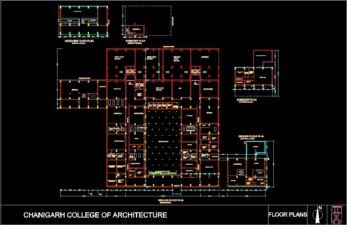 Chandigarh College Of Architecture Dwg Plan For Autocad