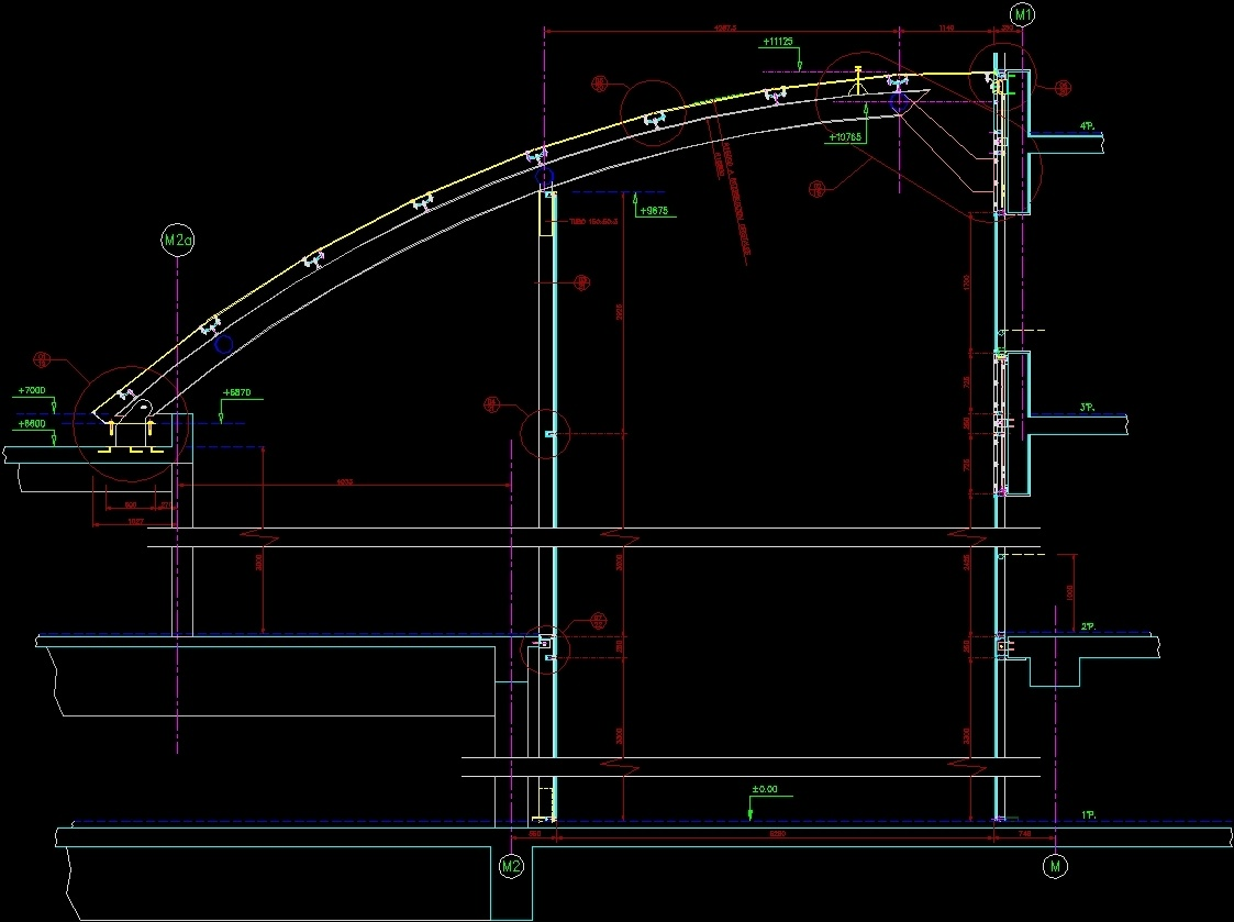 Circle Curtain Wall Details Dwg Section For Autocad