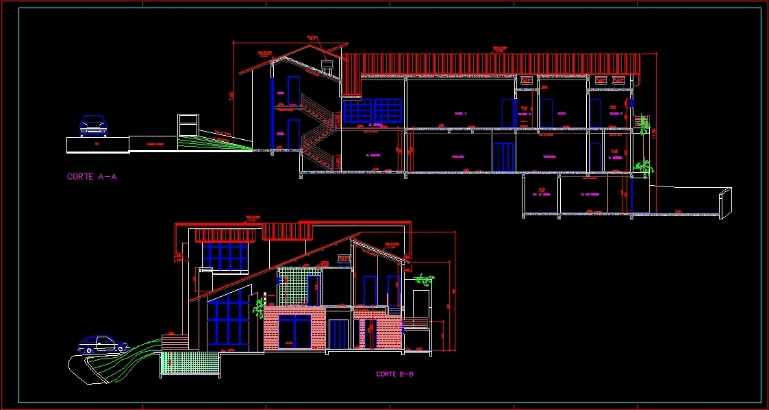 Complete Residence Dwg Section For Autocad Designs Cad