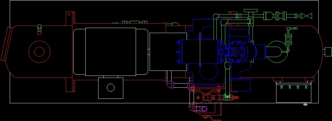 Compressor 300 Hp DWG Block for AutoCAD