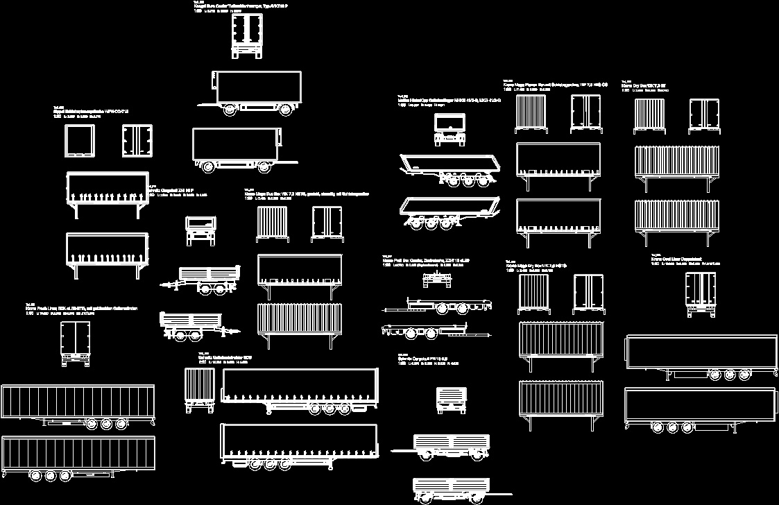 Containers and miscellaneous templates dwg plan for for Dwg templates free download
