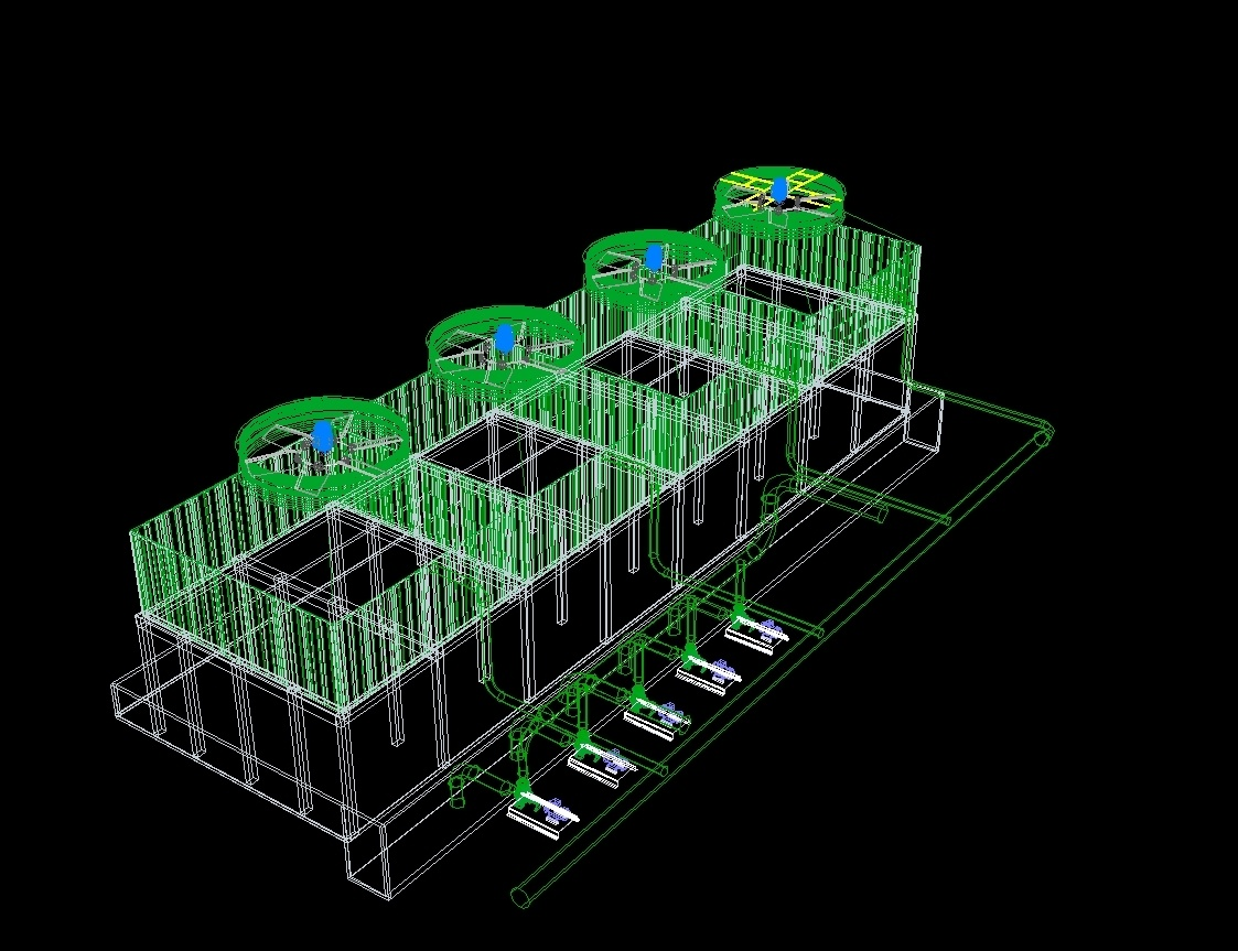 Cooling Towers 3d Dwg Model For Autocad Designs Cad