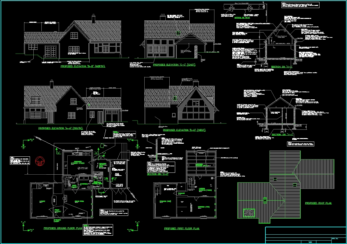 Cottage Plan Dwg Plan For Autocad Designs Cad
