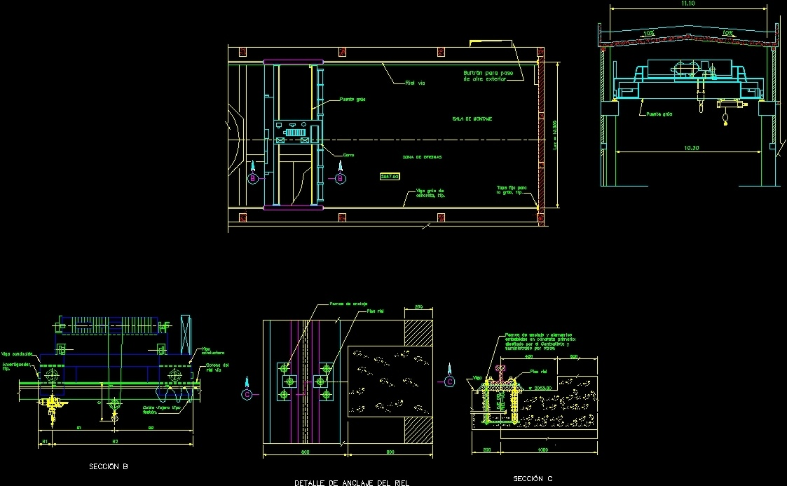 Overhead Crane Autocad Drawing : Crane bridge complete dwg detail for autocad designs cad