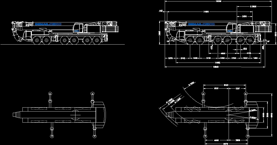 Crane Demag Ac 300 Dwg Plan For Autocad Designs Cad