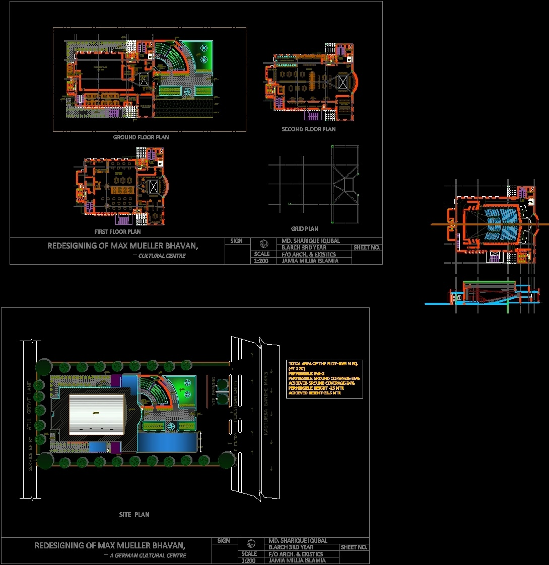 Cultural Center DWG Full Project for AutoCAD