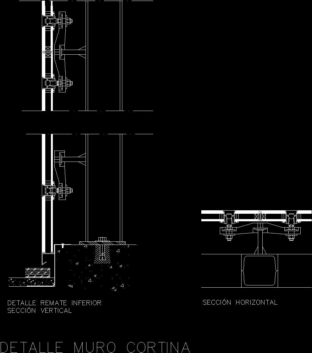 Curtain Wall Detail Dwg Detail For Autocad Designs Cad