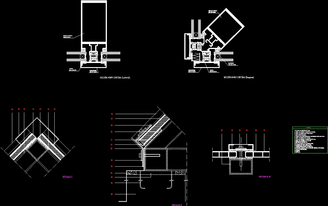 Curtain Wall Details Dwg Plan For Autocad Designs Cad