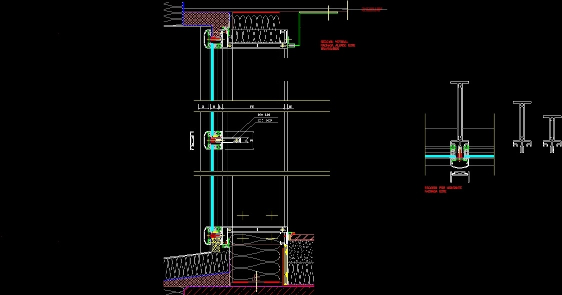 Curtain Wall DWG Section For AutoCAD O Designs CAD