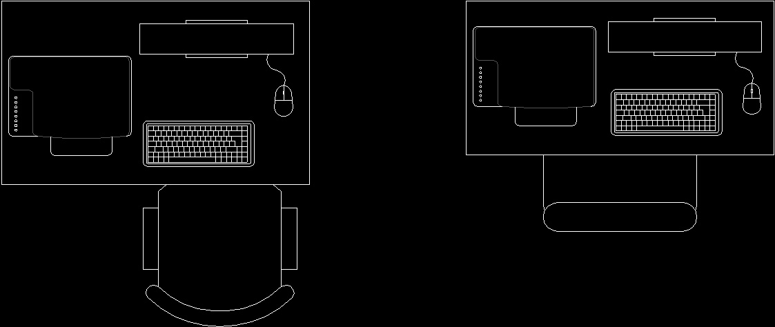 Desk DWG Block For AutoCAD