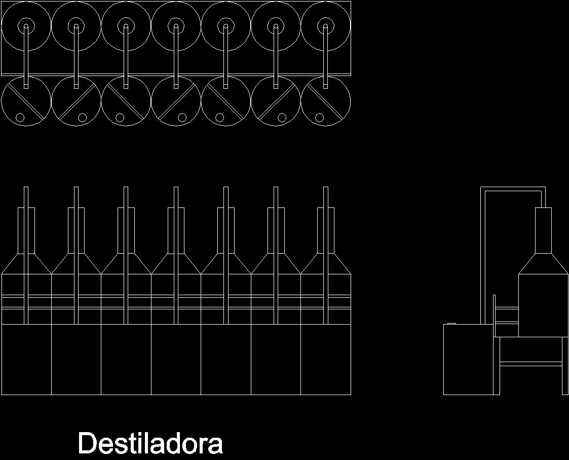 Destiladora 2D DWG Block for AutoCAD