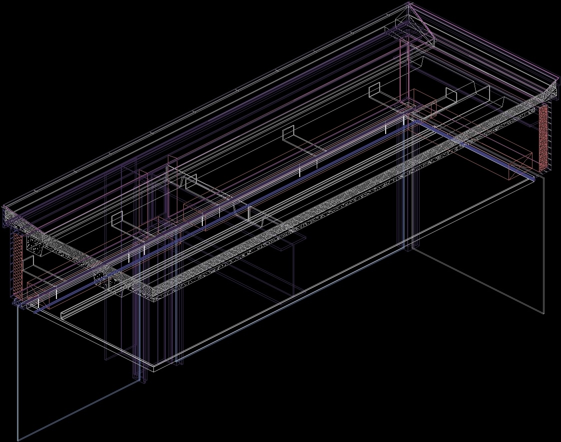 Detail Ceiling Farnsworth House By Mies Van Der Rohe 3d Dwg  # Muebles Mies Van Der Rohe Autocad