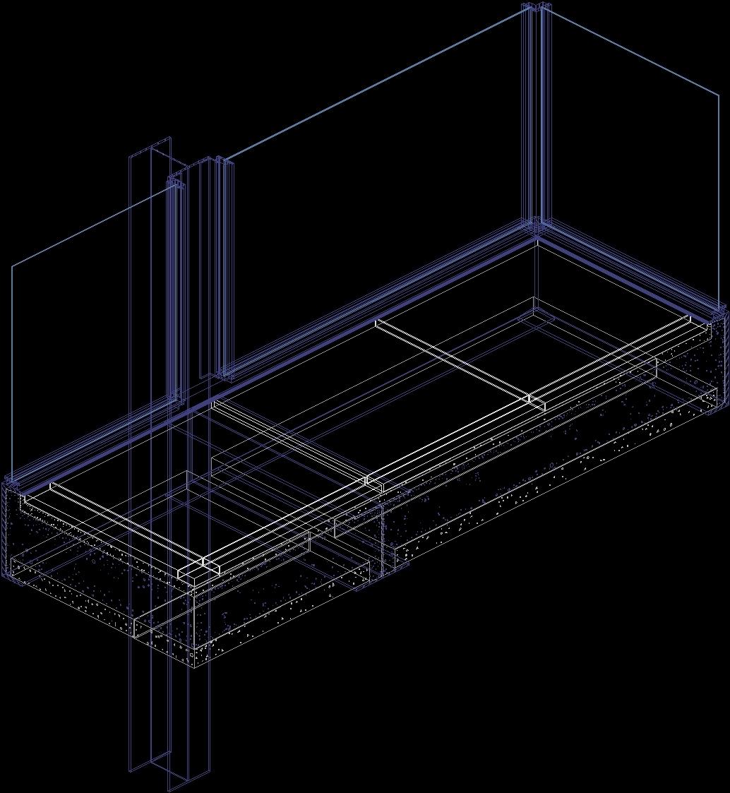 Detail Floor Slab Farnsworth House By Mies Van Der Rohe 3d Dwg  # Muebles Mies Van Der Rohe Autocad