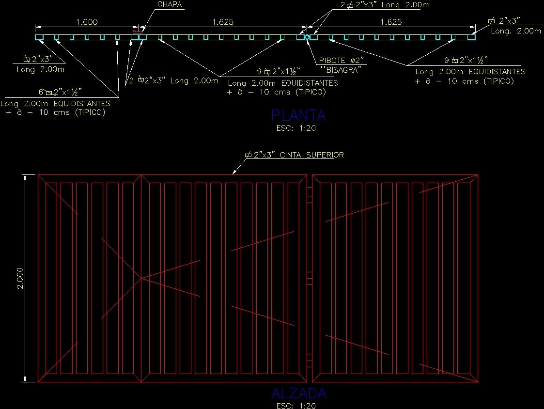 Detail Folding Door DWG Detail for AutoCAD • Designs CAD