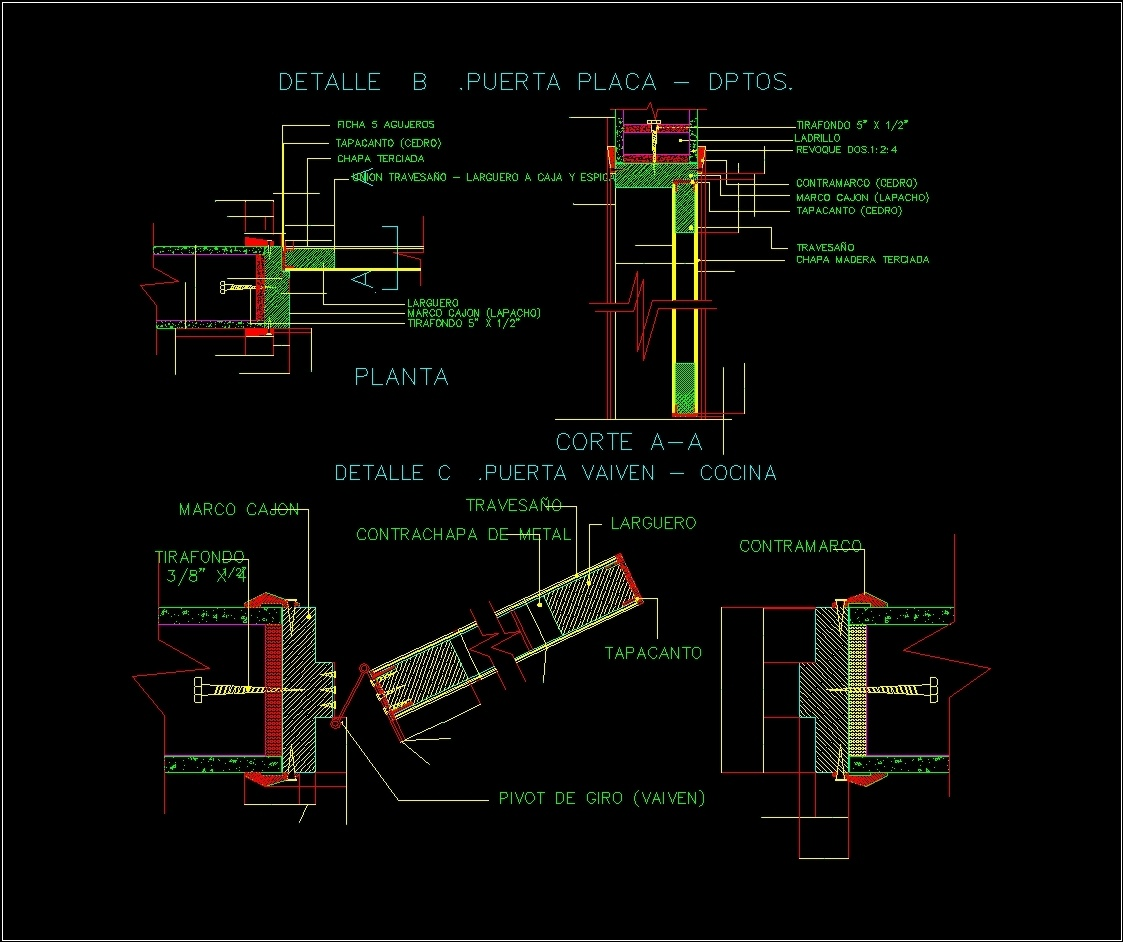 Detail Swing And Door Dwg Detail For Autocad Designs Cad