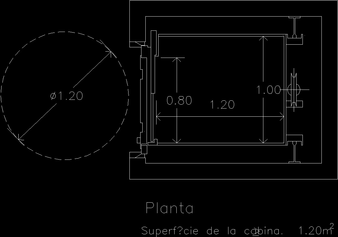 Disabilities Access To Elevator Dwg Plan For Autocad