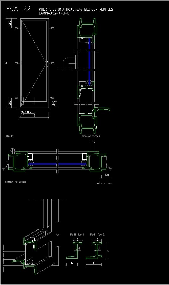 Door A Folding Leaf DWG Block for AutoCAD • Designs CAD