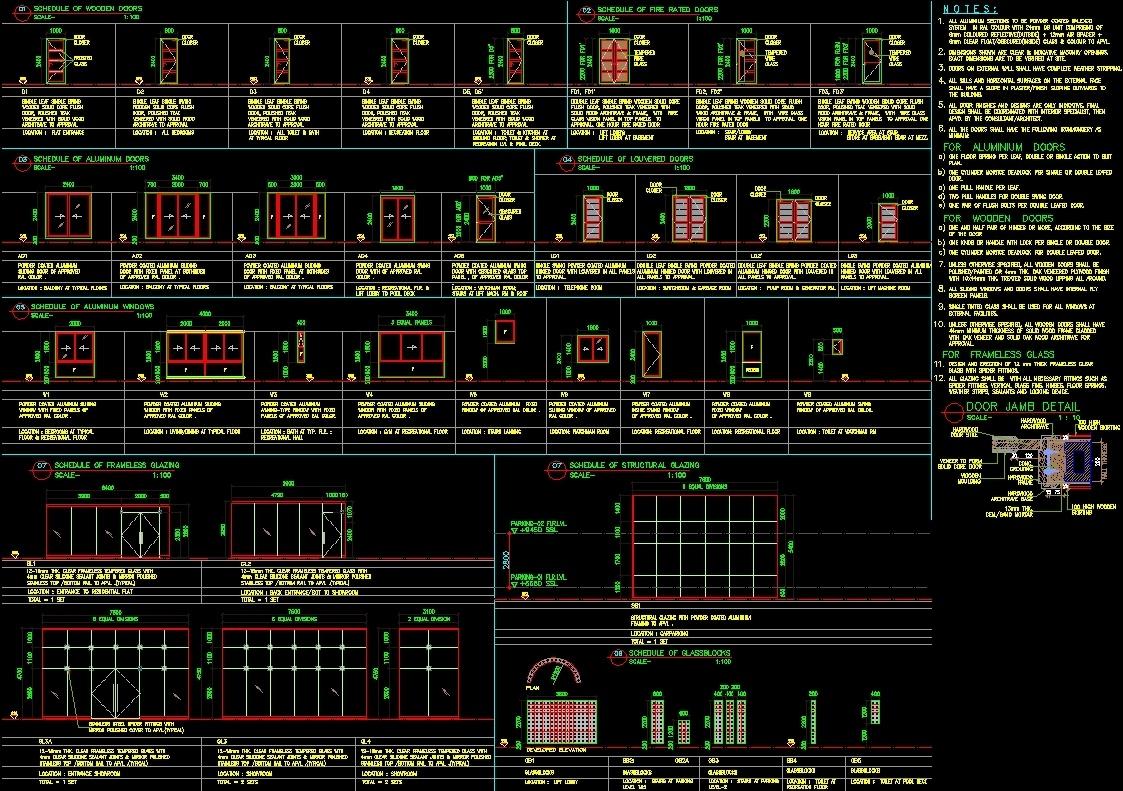 Door And Window Dwg Plan For Autocad Designs Cad