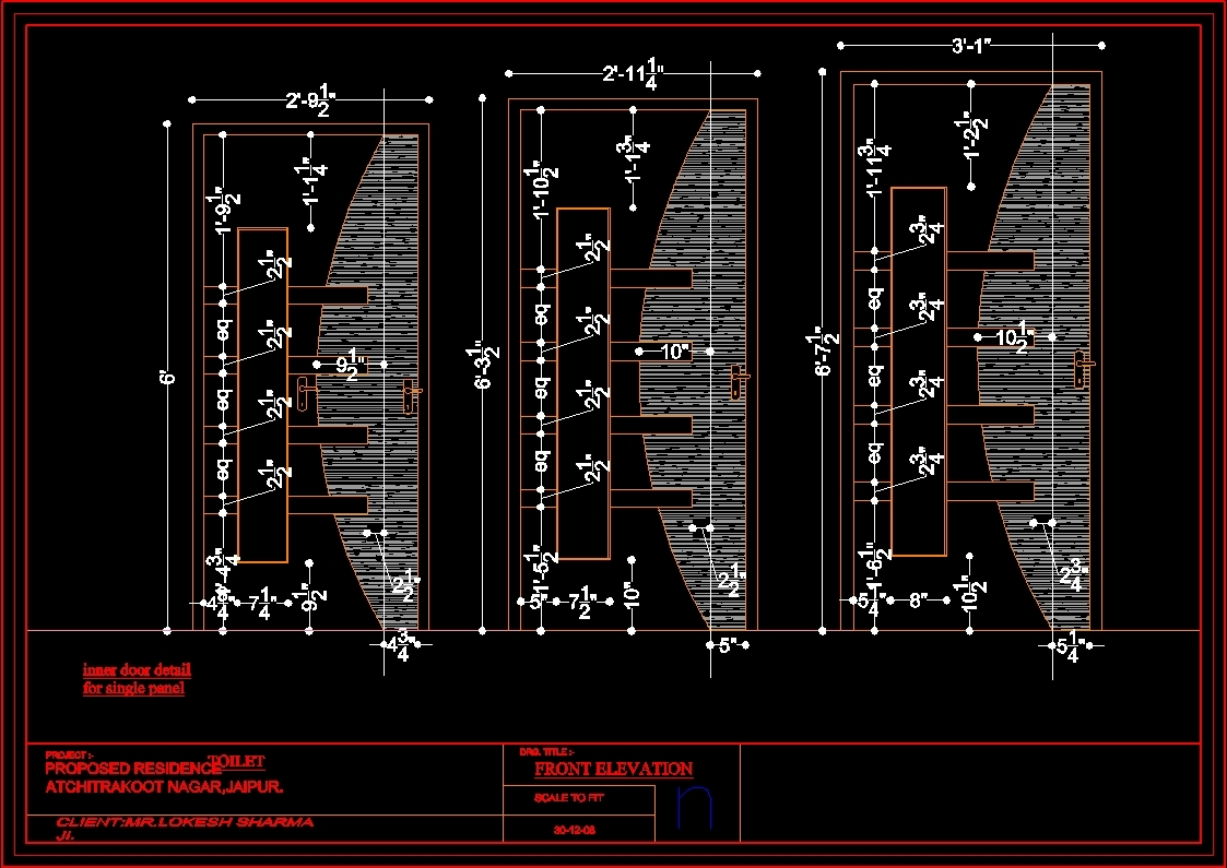 Awesome front doors autocad ideas ideas house design for Door elevation design
