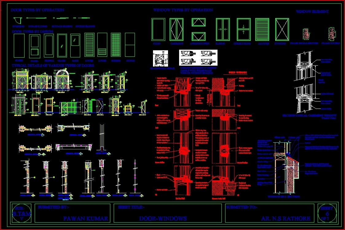 Doors Windows Dwg Block For Autocad Designs Cad