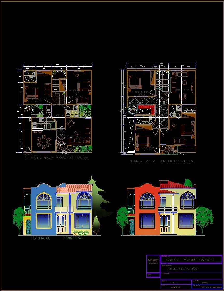 Duplex Blueprint Dwg Block For Autocad Designs Cad