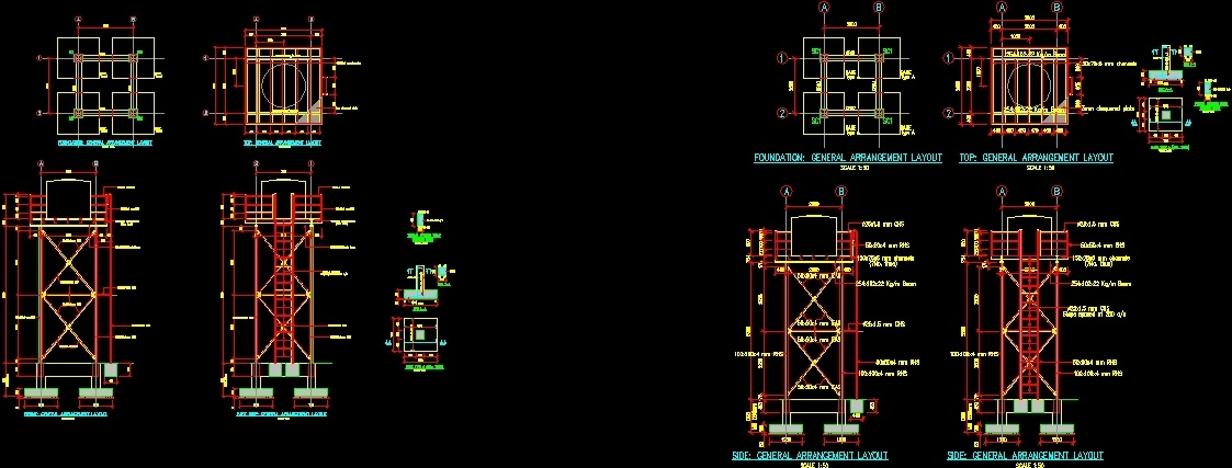 Elevated Water Tank DWG Block for AutoCAD