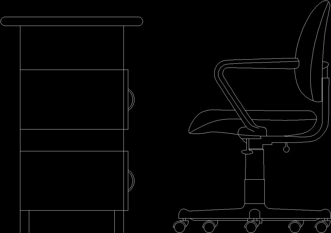 Elevation Of Office Furniture 2d Dwg Elevation For Autocad