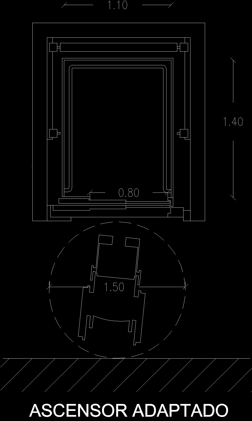 Elevator dwg block for autocad designs cad for Elevator plan drawing