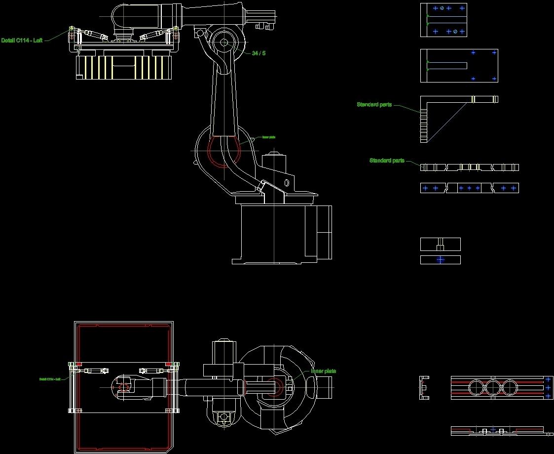 Example Of Mechanical Dwg Detail For Autocad Designs Cad