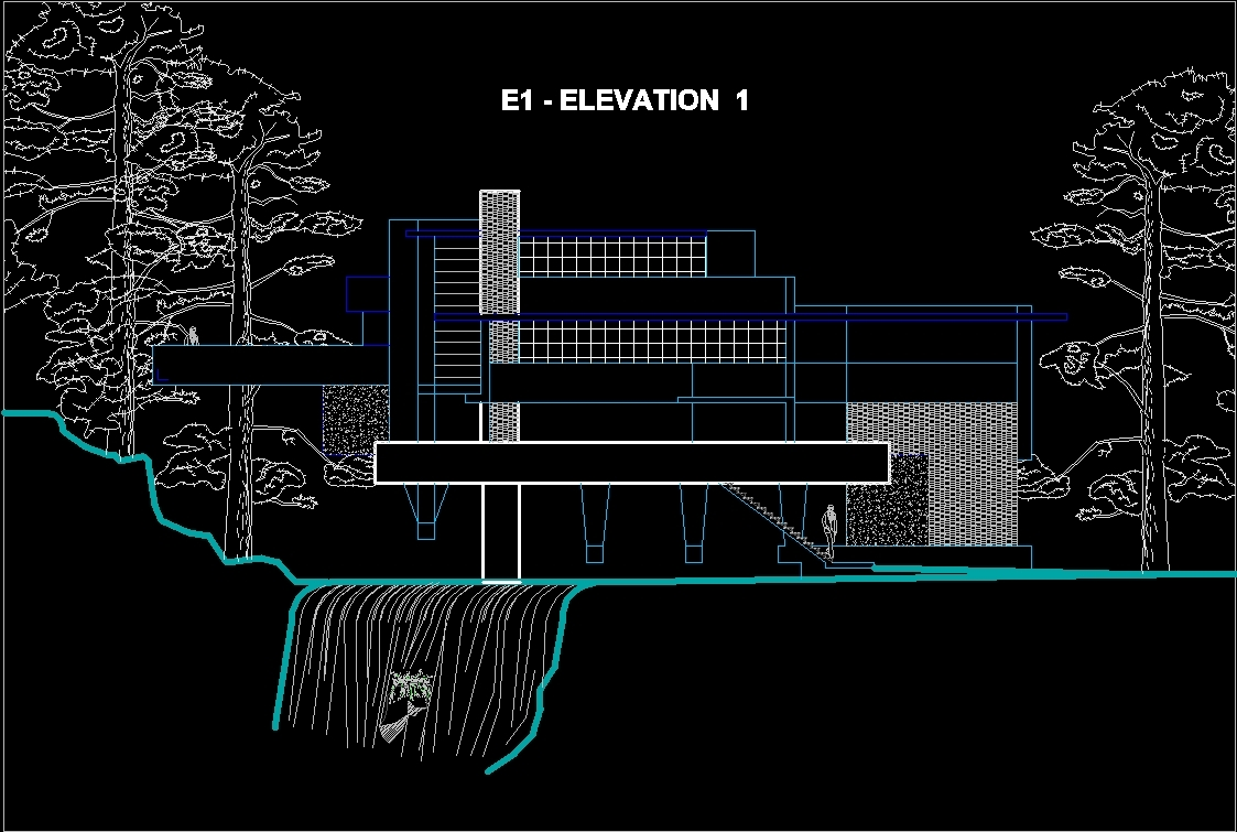 Villa Elevation Plan : Fallingwater bull run pa usa by frank lloyd wright
