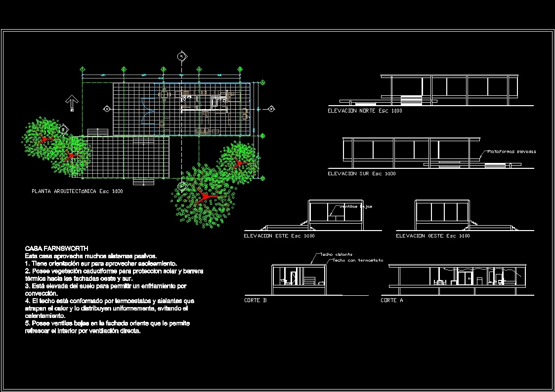 Farnsworth house dwg block for autocad designs cad for File cad di casa