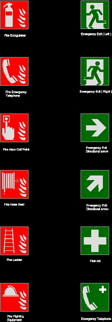 Fire Fighting Symbols DWG Block for AutoCAD
