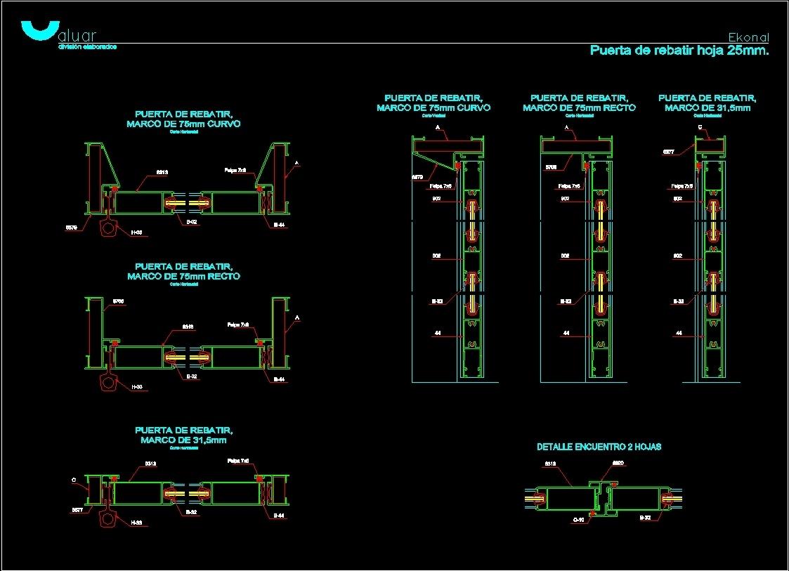 Fold Door DWG Detail for AutoCAD • Designs CAD