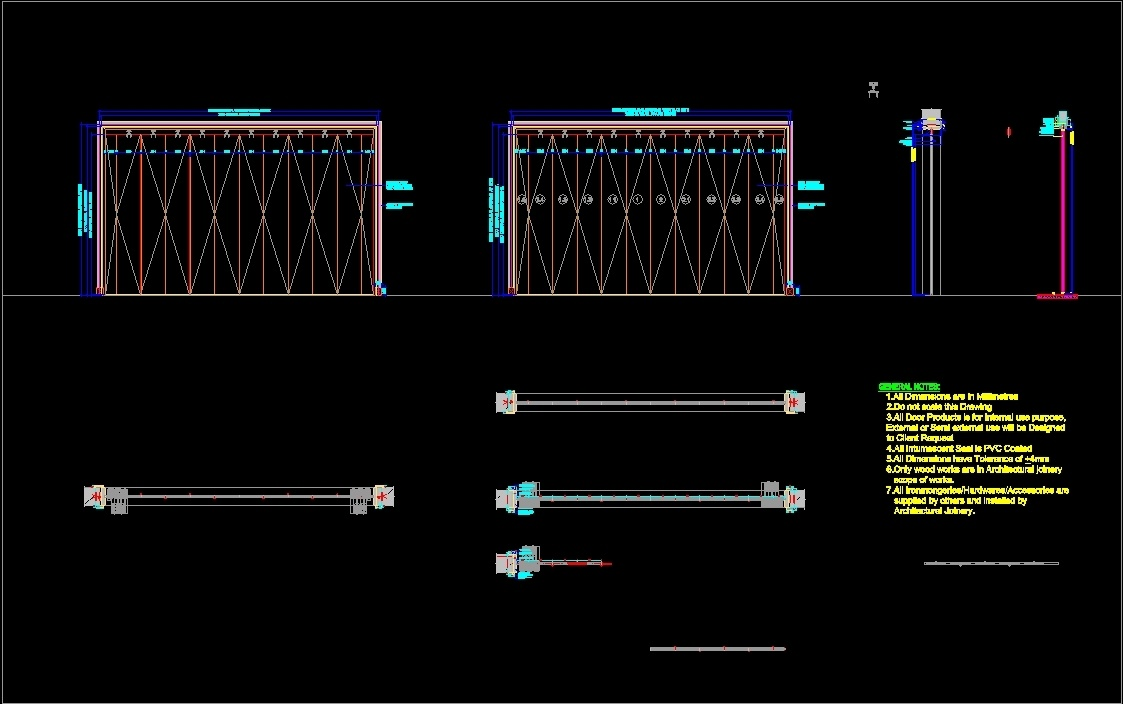 File Type dwg & Folding Door Detail Section DWG Section for AutoCAD u2022 Designs CAD