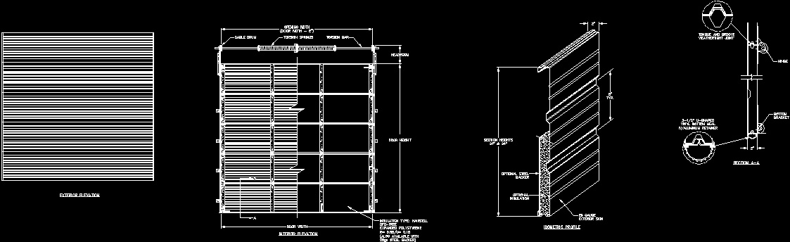 Garage Door Dwg Section For Autocad Designs Cad