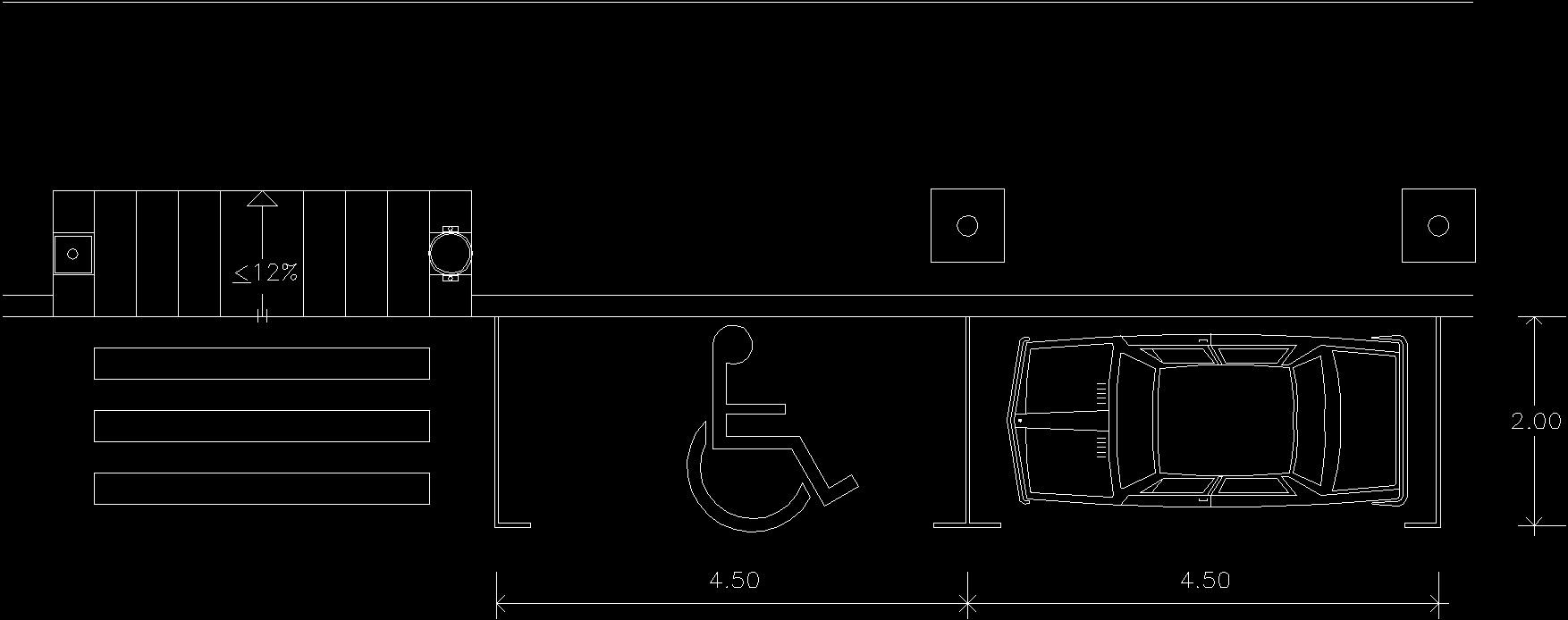 Handicapped Parking 2d Dwg Block For Autocad Designs Cad