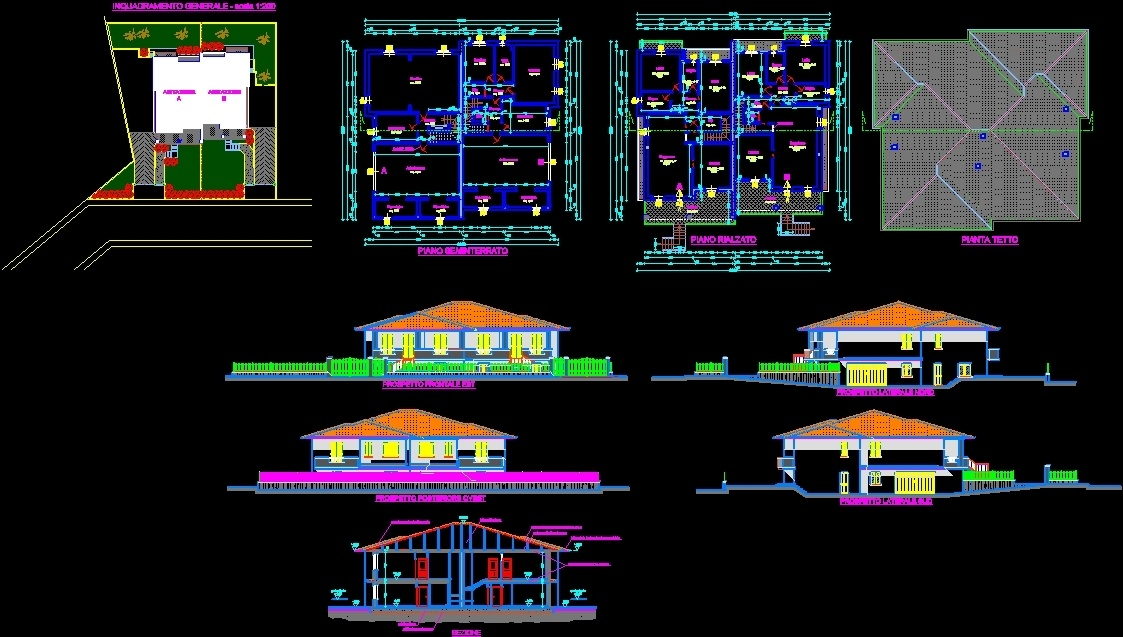 Homestay 2 Story Dwg Block For Autocad Designs Cad
