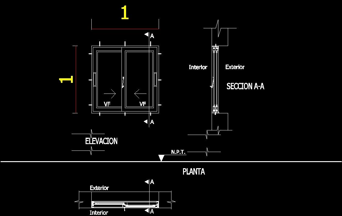 Horizontal Slider Dwg Detail For Autocad Designs Cad